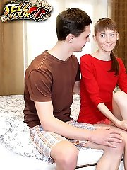 Cutie plays with fat rod