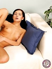 Charming Antonia shows her charms on camera.