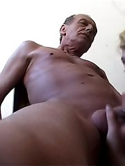 Horny old man fucks a hot young blonde