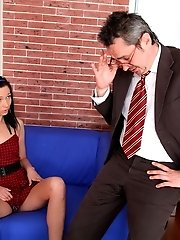 Kristina is a sexy student who will suck her teachers cock for a better grade.