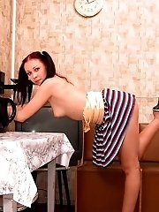 Flexible Gymnasty Strips In Her Own Room
