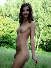 Naughty Girl With Sweet Smile And Even Sweeter Body Allows You To Watch Her Funs On The Nature.