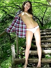 Teen Adventures Lead To Interesting Places In The Forest, Where She Rests With Some Sexy Naked Poses
