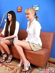 Check the steaming hot lesbian threesome.