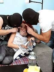 Young Masha is forced to suck cock and get fucked by the thieves