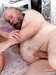 Alyona's older man arrives and rubs her head to relieve her headache so nicely for her