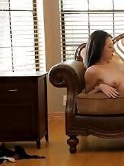 Buxom Brunette Hanna Lay Fondles Her Tits And Pinches Her Puffy Nipples On Her Way To Satisfying Her