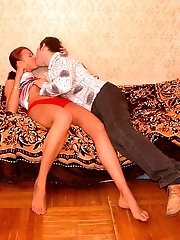 Cozy And Hot Fucking Session On A Carpet