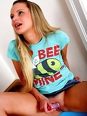 Luisa the hot 18 year old blonde really wants to lose her virginity on camera, and that's what we're here for!