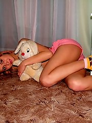 Cute, innocent looking little thing can't stop playing with her pussy.